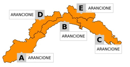 Allerta Meteo: da mezzanotte scatta il livello arancione per temporali