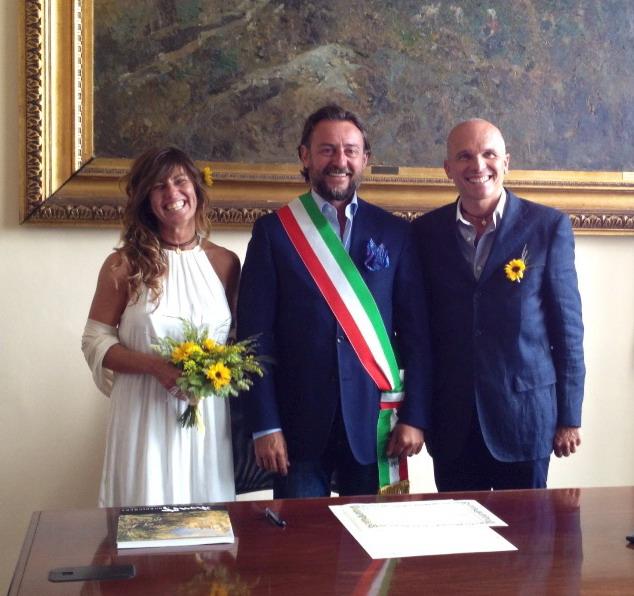 Matrimonio In Comune : Bordighera il sindaco giacomo pallanca ha celebrato in