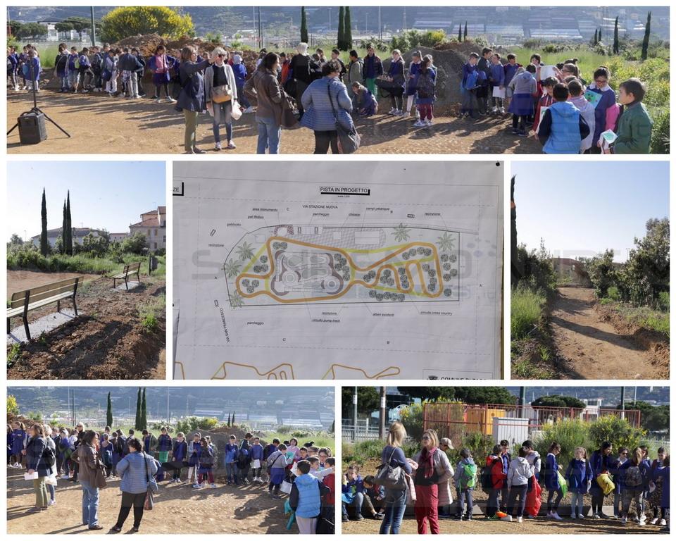 Taggia: inaugurata questa mattina nella zona della Levà la nuova pista di 'Pump Track', tanti i giovani partecipanti