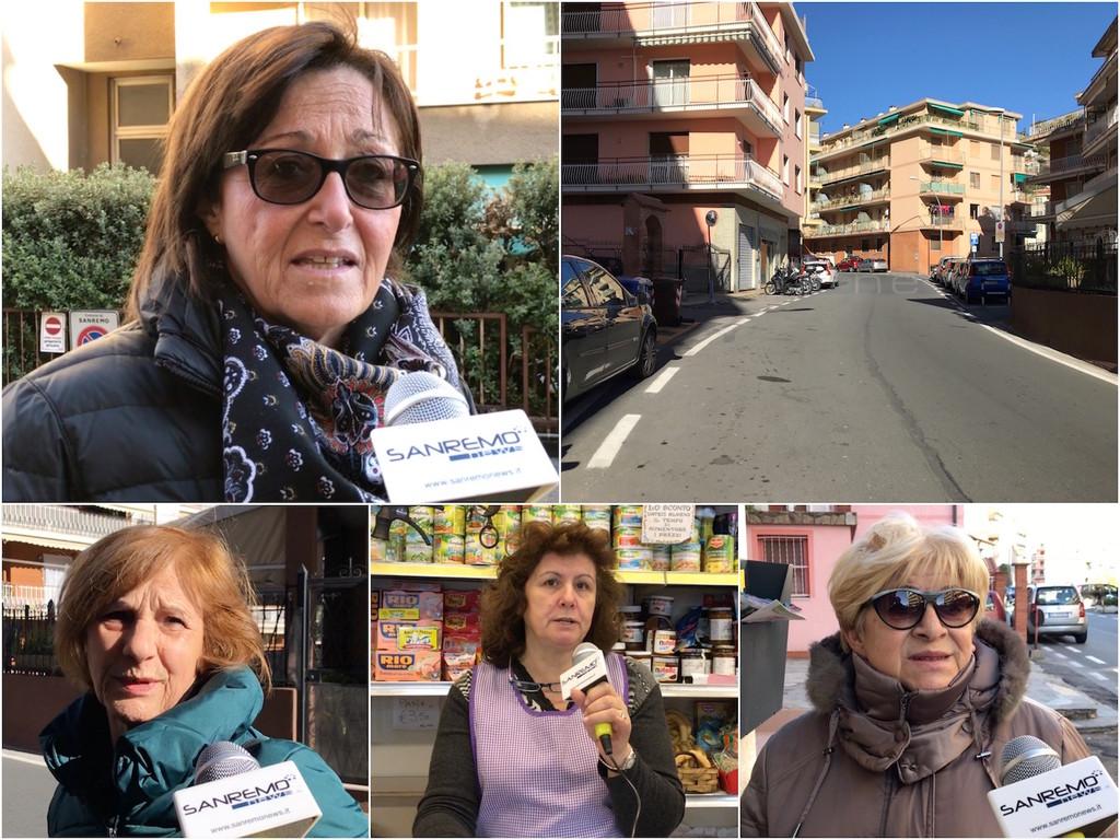 """Sanremo: una passeggiata in via Galilei per fare il punto sull'inversione di marcia. Intanto il fronte del """"no"""" si rivolge a un legale e annuncia un esposto (Video)"""