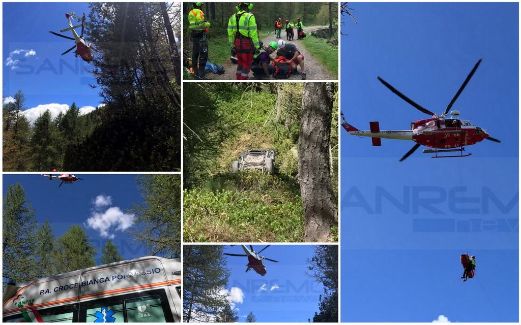 Due morti e tre feriti sulla 'Via del Sale': trasportati in elicottero i 3 sopravvissuti all'incidente (Foto e Video)