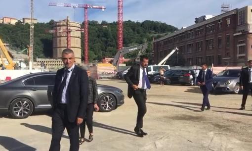Commemorazione vittime del Ponte Morandi: l'arrivo di Salvini e Di Maio (VIDEO)
