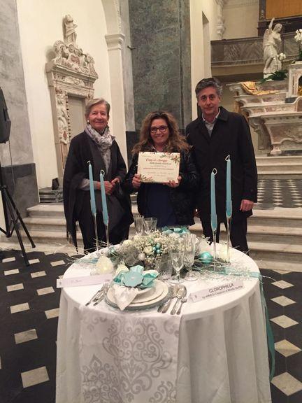 Ventimiglia mirella guion si aggiudica il primo premio for Foto tavole natalizie