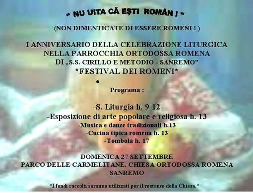 Sanremo: il 2015 dal punto di vista della comunità romena, tutte le iniziative in programma