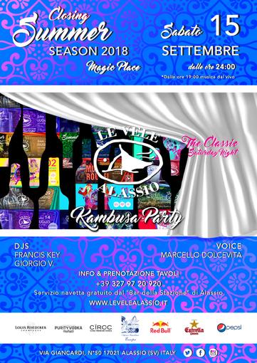 Sabato 15 settembre il closing summer party della discoteca Le Vele