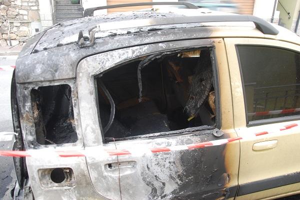 Risultati immagini per Attentato incendiario ad un'auto di una radio