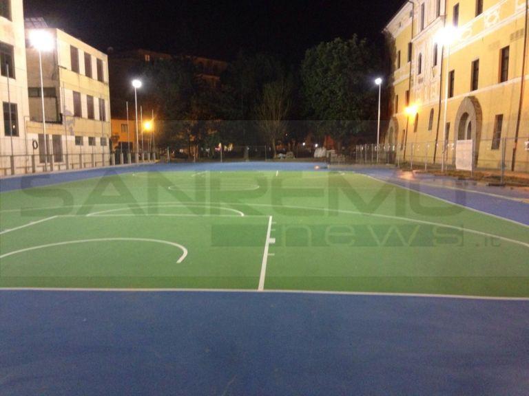 Taggia: completato il nuovo campo da basket e una parte del ...
