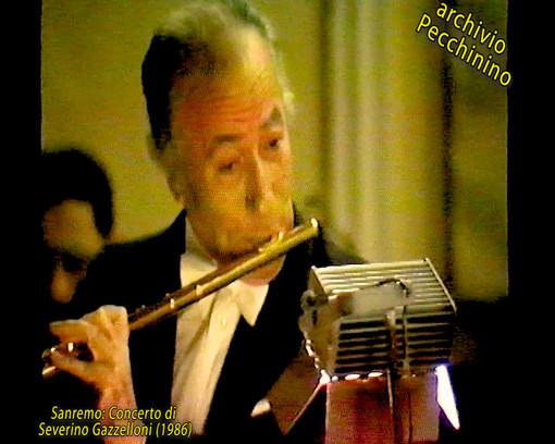 I video di Roberto Pecchinino: il Concerto al Casinò di Sanremo del Maestro Severino Gazzelloni