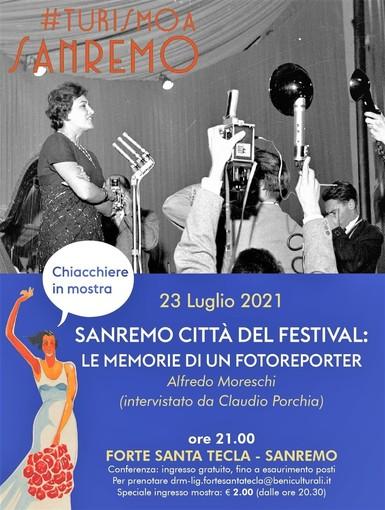 Sanremo città del Festival: le memorie del fotoreporter Alfredo Moreschi, intervistato da Claudio Porchia