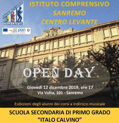 Sanremo: il 12 dicembre, presentazione offerta formativa alla Scuola Secondaria di primo grado 'Italo Calvino'