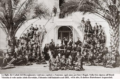 Quando le figlie dei caduti del militari venivano al mare a Sanremo