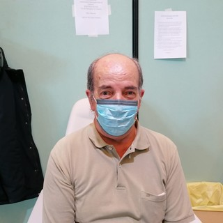 Rino, il genovese che ha ricevuto la 500 millesima dose