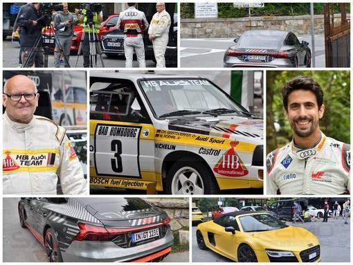Sanremo: Stig Blomqwist e Lucas Di Grassi con l'Audi a San Romolo per i test drive della casa tedesca (Foto)