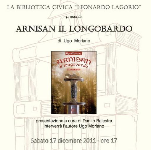 Imperia: sabato alla Biblioteca Civica la presentazione del libro 'Arnisan il Longobardo'