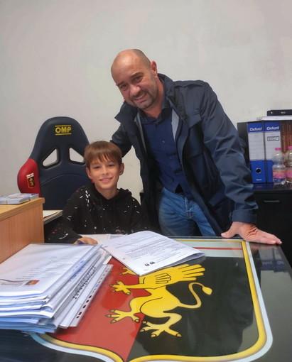 Calcio giovanile: dalla Virtus Sanremo al Genoa, Aron Kraja firma con i rossoblu