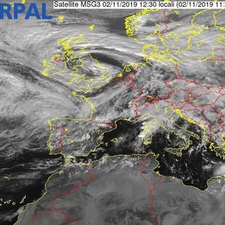Le immagini dal satellite