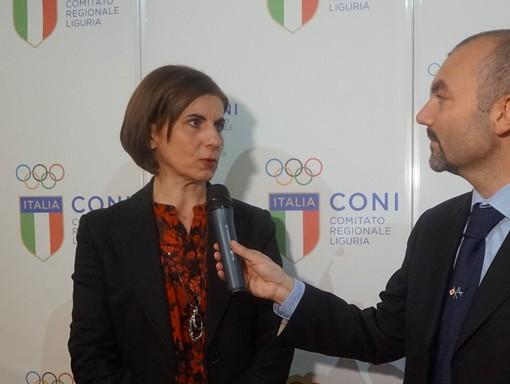Antonella Iannucci intervistata da Federico Marchi (foto d'archivio)
