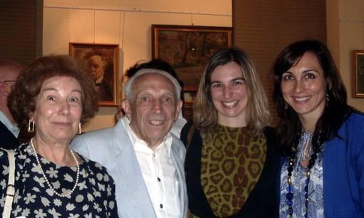 Da sinistra Anna Maria Ceriolo, Ampeglio Verrando, la figlia Marilena e Gisella Merello
