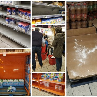 Coronavirus: supermercati di Bordighera affollati per la 'caccia' ai beni di prima necessità e non solo, rifornimenti garantiti