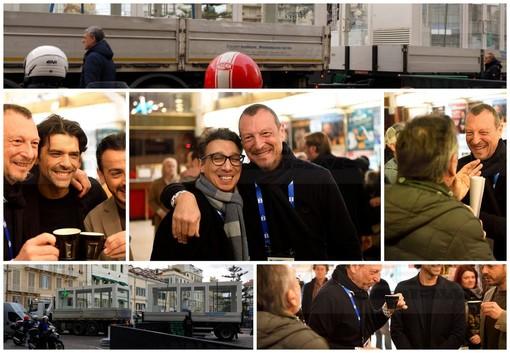 #Sanremo2020: un caffè all'Ariston con Amadeus prima delle prove, e spunta anche Paolo Jannacci (Foto)