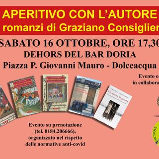 Dolceacqua: domani aperitivo con l'autore Graziano Consiglieri con la presentazione di tre libri