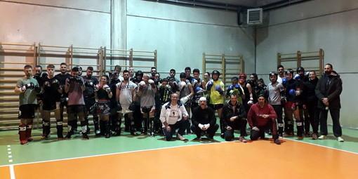 Badalucco: kick boxing, allenamento collegiale della 'Fight Team Ponente' ieri sera in palestra