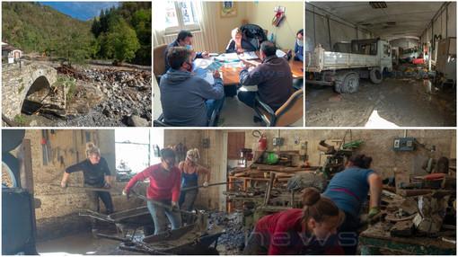 """Alluvione a Molini di Triora, il sindaco Sasso """"Dovremo ricostruire un comune distrutto, speriamo nello Stato"""" (Foto e video)"""