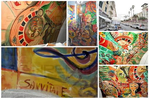 Sanremo: gli affreschi di Sanvitale dell'ex night 'Roulette' ora sotto il bar Insomnia di corso Imperatrice (Foto)