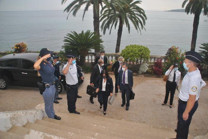 I Direttori Centrali della Polizia di Frontiera franco italiana in visita ai nuovi uffici della squadra mista a Mentone (foto)