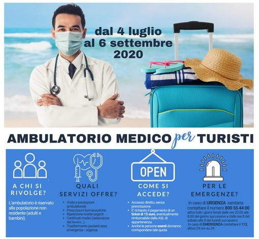Ambulatorio medico per turisti: riparte il servizio nei comuni di  Diano Marina, Taggia, Riva Ligure e Ospedaletti