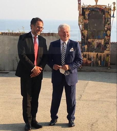 Ventimiglia: prima uscita ufficiale del nuovo ambasciatore italiano nel Principato di Monaco al Forte dell'Annunziata