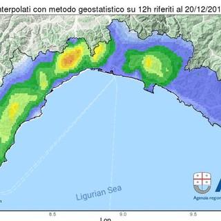 Allerta meteo: la 'rossa' sul Ponente terminerà alle 21, poi sarà 'arancio' fino alla mezzanotte
