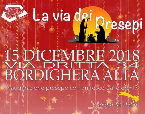 Bordighera: sabato prossimo con 'A Pria Presiuza' nella città alta l'inaugurazione della 'Via dei Presepi'