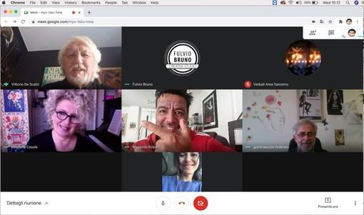 La commissione riunita via web