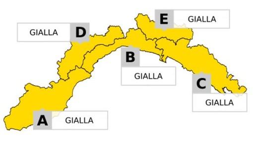 Estesa anche alla provincia di Imperia l'allerta gialla: alta probabilità di forti temporali
