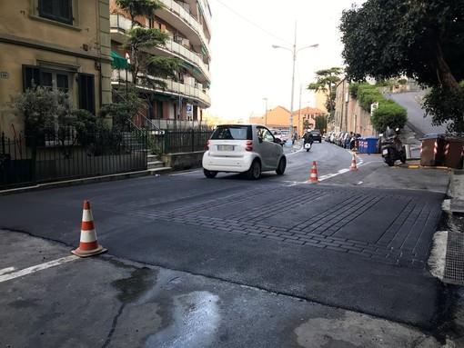 Il nuovo attraversamento pedonale rialzato di via Galilei