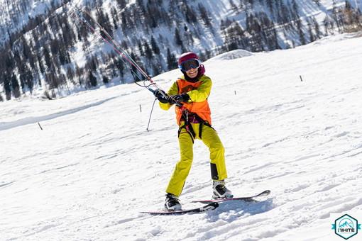 Sport invernali: la sanremese Alba Battisti si laurea campionessa italiana di Snowkite al Tonale (Foto)