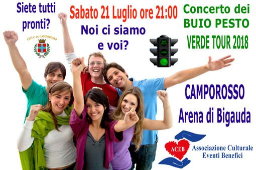 Camporosso: il 21 luglio tornano i 'Buio Pesto' per il concerto benefico a favore dell'Aceb
