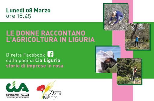 Per la festa della Donna, domani domande e risposte in diretta a cura di Cia Agricoltori Italiani Liguria