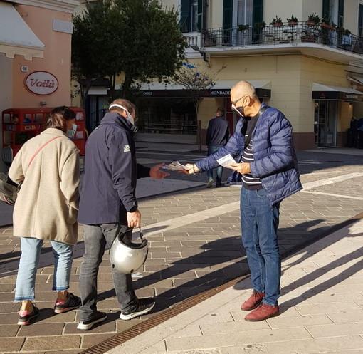 Diano Marina: sabato scorso un banchetto informativo di 'Casapound Italia' in via Genova