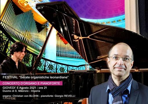Giovedì prossimo, ultimo appuntamento del festival internazionale della città di Imperia 'Serate organistiche Leonardiane'