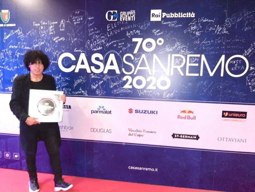 #Sanremo2020: blandizzi a  'Casa Sanremo' riceve il prestigioso premio 'National voice awards'