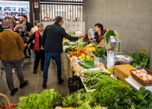 Elezioni Sanremo: Alberto Biancheri al mercato annonario per la riapertura dopo i lavori