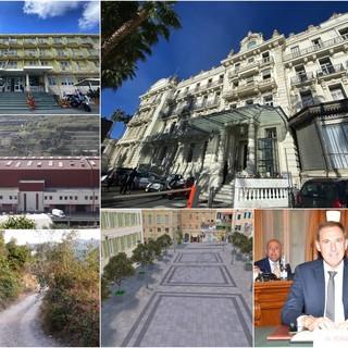 Sanremo: piazza Borea d'Olmo, Mercato dei Fiori e strada Verezzo-Parà tra i tanti lavori finanziati con variazione di bilancio. Saltano gli interventi legati alla vendita di Casa Serena