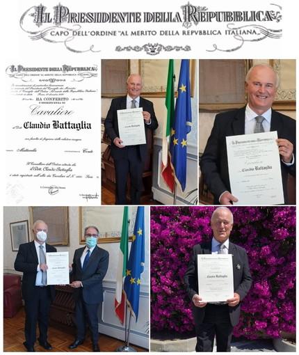 Sanremo: il presidente della Lilt Claudio Battaglia è da oggi 'Cavaliere al merito della Repubblica'