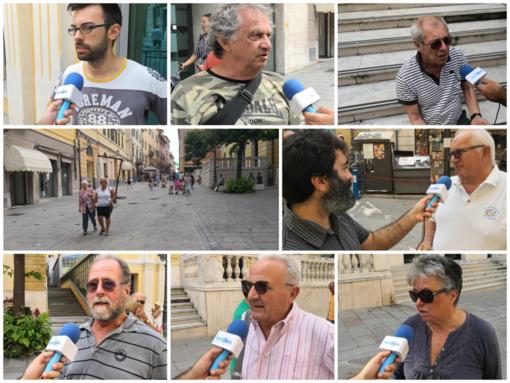 Favorevoli o contrari all'apertura al traffico? Indagine di Imperia News questa mattina in via Cascione (foto e video interviste)