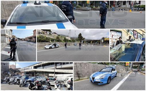 Sanremo: poca gente in giro e un paio di sanzioni al casello, pieni solo i supermercati in questo sabato 'rosso' (Foto)