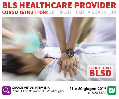 A fine giugno il primo corso istruttori BLS American Heart Association nella sede della Croce Verde Intemelia