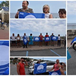 Sanremo: consegnate in bicicletta dall'Amministrazione le 'Bandiere Blu' agli stabilimenti balneari (Foto e Video)