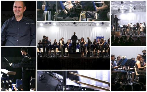 Bordighera: grande successo ieri sera ai giardini Lowe per il concerto della Banda di San Nicolò (Foto)